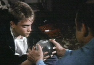 "St. Elsewhere - Tommy holds the St. Eligius snow globe in the final moments of ""The Last One""."