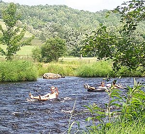 Gaspereau River - Tubing on the Gaspereau River