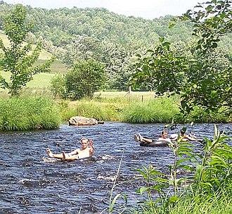 Gaspereau River - Tubing on the Gaspereau River