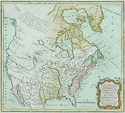 The territory of the newly formed USA was much smaller than it is today. A French map showing Les Etats Unis in 1790