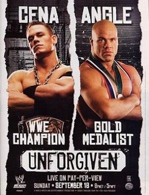 Unforgiven (2005) - Promotional poster featuring John Cena and Kurt Angle