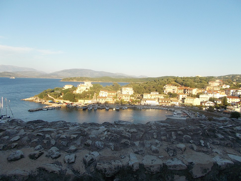 View of Kassiopi village from the castle
