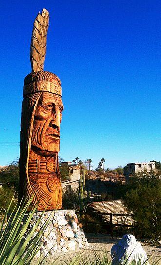 Cabot's Pueblo Museum - Waokiye looking west, with Pueblo Museum in background