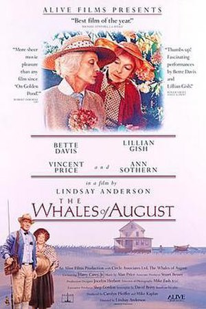 The Whales of August - Theatrical release poster