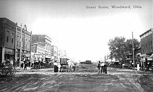 Woodward, Oklahoma - Main Street, c. 1910