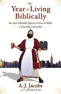 <i>The Year of Living Biblically</i> book
