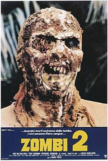 <i>Zombi 2</i> 1979 film directed by Lucio Fulci
