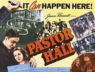 Pastor Hall - U.S. poster