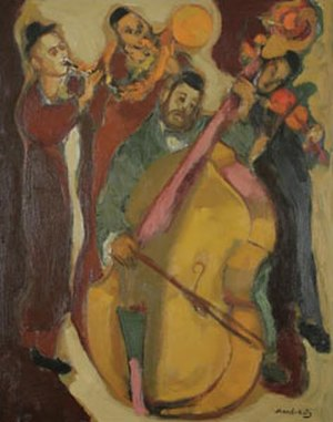 "Emmanuel Mane-Katz - ""The Quartet,"" oil on canvas by Mane-Katz, 1930s"