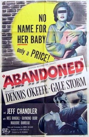 Abandoned (1949 film) - Theatrical release poster