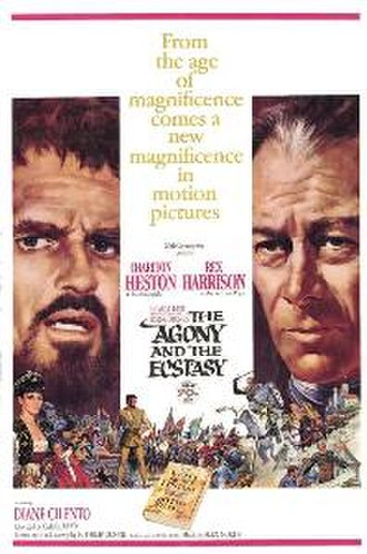 The Agony and the Ecstasy (film) - Theatrical release poster by Howard Terpning