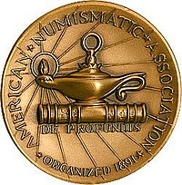 American Numismatic Association Lamp Medal