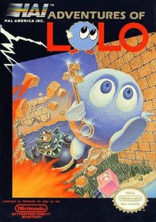 <i>Adventures of Lolo</i> 1989 NES game