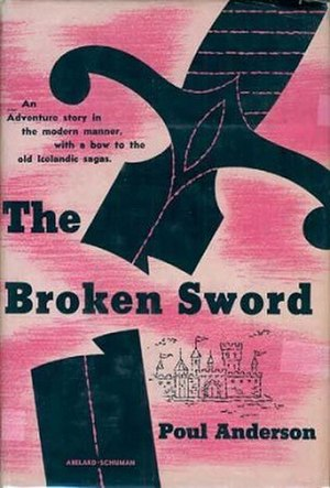 The Broken Sword - Dust-jacket from the first edition.