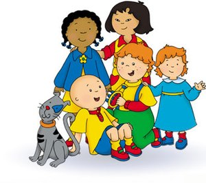 Caillou's friends: (Back) Clementine, Sarah - ...