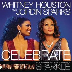 Celebrate (Whitney Houston and Jordin Sparks song) - Image: Celebrate Official Single Cover