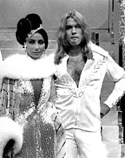 Cher with then-husband Gregg Allman in 1975