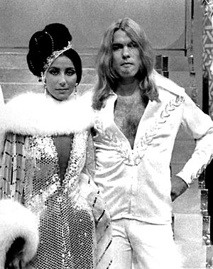Gregg Allman - Allman with then-wife Cher in 1975.