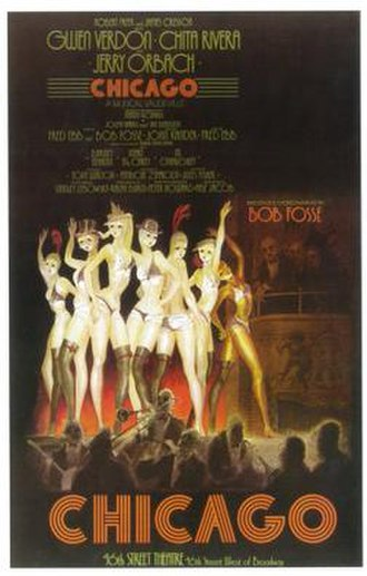 Chicago (musical) - Original Broadway poster art