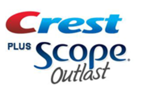 Scope (mouthwash) - Crest Plus Scope Outlast logo (2009–present)