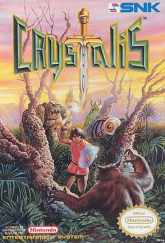 Crystalis - Box art from the original NES release.
