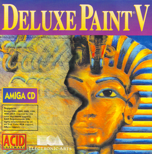 Deluxe Paint V box cover - OEM re-release on CD
