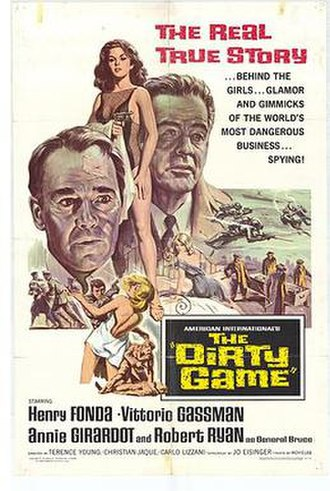 The Dirty Game - American release film poster by Reynold Brown
