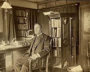 Presbyterian Historical Society - Dr. Henry C. McCook in his study (1890)