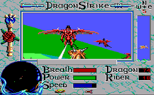 DragonStrike (video game) - Gameplay screenshot (Amiga).