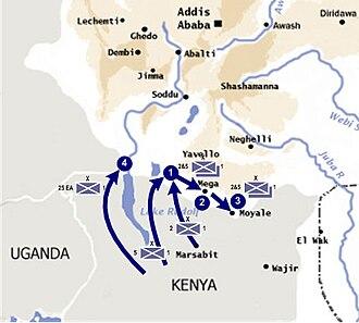 Kenya in World War II - British foray into Italian Ethiopia, early 1941