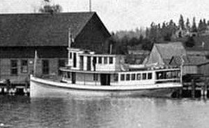 Elfin (steamboat) - Elfin, following 1896 reconstruction, at Kirkland dock.