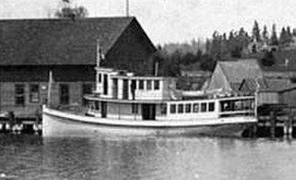 Elfin (steamboat) - Elfin, following 1896 reconstruction, at Kirkland dock.