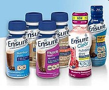 Photo of the different available Ensure shakes from June 2012