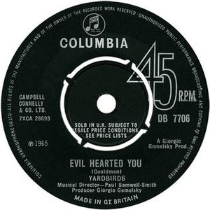 Evil Hearted You - Image: Evil Hearted You Yardbirds 1965