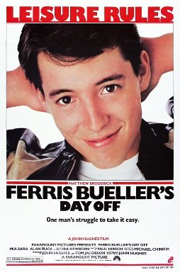 """The poster shows a young man smiling with his hands behind his head with the tagline, """"Leisure Rules"""" being on the top of the poster. The film's title, the rating and production credits appear at the bottom of the poster."""