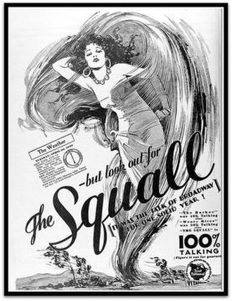 The Squall - Theatrical release poster