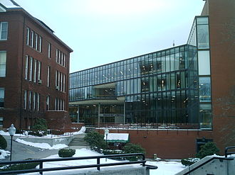 Fitchburg State University - The Hammond Campus Center, with Thompson Hall to the left.