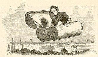 The Flying Trunk - Vilhelm Pedersen illustration
