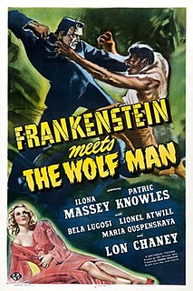 <i>Frankenstein Meets the Wolf Man</i> 1943 US horror film directed by Roy William Neill