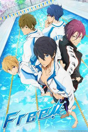 Free! (anime) - Promotional poster of the Free! anime series.