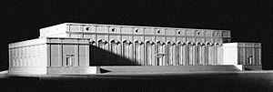 Führermuseum - A model of Adolf Hitler's planned Führermuseum in Linz, Austria, designed by Roderich Fick based on Hitler's sketches.