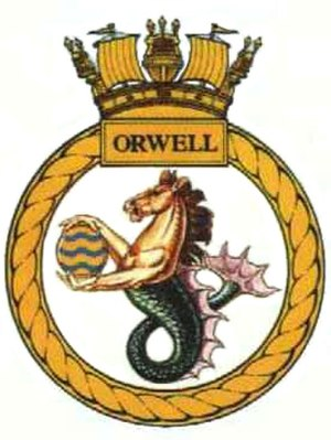 HMS Orwell (G98) - Image: HMS Orwell (G98) Badge