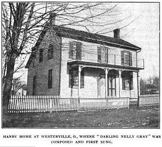 Westerville, Ohio - Hanby House, circa 1905