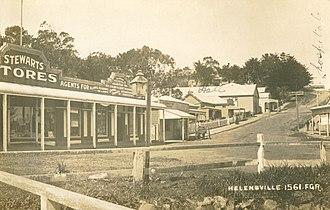 Helensville - Helensville shops ca 1890