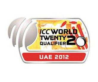 2012 ICC World Twenty20 Qualifier - Image: ICC World T20 2012 Qualifier