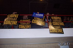 International Union of Painters and Allied Trades - IUPAT presence in support of Jon Corzine at a rally during the 2009 New Jersey gubernatorial race.