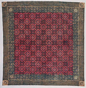 Rembang Regency - Ceremonial double ikat man's head cloth from 1880s Lasem.