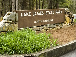 Lake James State Park - Park entrance sign