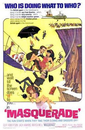 Masquerade (1965 film) - Film poster by Jack Rickard
