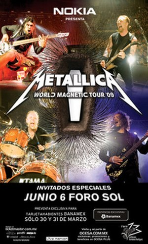 World Magnetic Tour - Promotional poster of one of the three shows in Mexico City